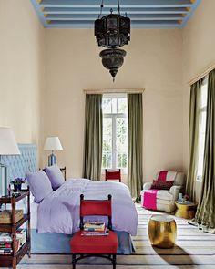 Tall Boho Chic Bedroom