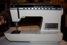 in my studio: Athena 2000 Singer's first electronic sewing machine! circa1975