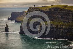 Colorful Landscape of Irelands Cliffs of Moehr during Winter