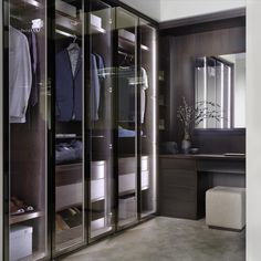 A bespoke made to measure Neatsmith dressing room area with hinged door wardrobes.   We know the importance of lighting in any bedroom and wardrobes are no exception. These wardrobes with internal LED lights light-up this dressing room area making it not only easy to use but a beautiful addition to any bedroom.  Neatsmith designs and installs bespoke wardrobes and bedroom furniture to create your perfect bedroom.  #walkinwardrobes #wardrobes #dressingrooms #home #bedroom #bedroomideas… Sliding Wardrobe, Wardrobe Doors, Mirror Panels, Panel Doors, Wardrobe Lighting, Wardrobe Door Designs, Veneer Door, Shaker Doors, Unique Doors