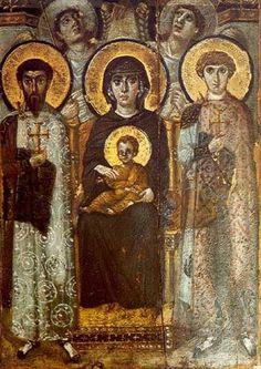 Madonna in Trono - Kyriotissa del Monastero di Santa Caterina del Sinai