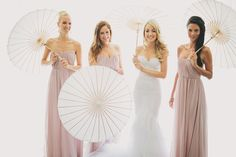 Beautiful, ethereal shot -- Bridesmaids -- See the wedding on SMP: http://www.StyleMePretty.com/2014/03/07/lakeside-wedding-at-castle-maria-loretto/ Photography: Thomas Steibl