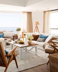 Dos pisos contiguos crearon un dúplex de vacaciones en la Costa Brava