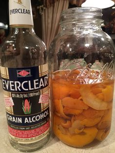 This is an easy Homemade liquor recipe that works with lemons, oranges or limes. This recipe will produce 3 bottles of liquor. Homemade Alcohol, Homemade Liquor, Fancy Drinks, Yummy Drinks, Smoothies, Mets Vins, Liqueur, Alcohol Recipes, Drink Recipes