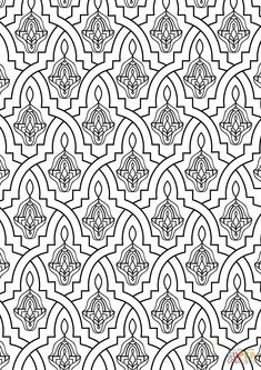Nevertheless, it's noted that a number of the maximum quality and artistic tile art was made during this time period. In most situations it is usually a great concept to nail at least every other tile. Moroccan Design, Moroccan Tiles, Morrocan Decor, Colouring Pages, Adult Coloring Pages, Morrocan Patterns, Pattern Art, Tile Patterns, Thai Pattern