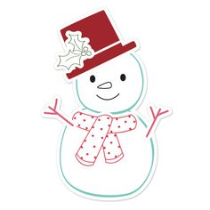 Sizzix - Hero Arts - Framelits - Die Cutting Template and Repositionable Rubber Stamp Set - Snowman 2 at Scrapbook.com $24.99 ---- ADORABLE, but so Not my style, lol