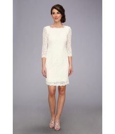 Feel like the prettiest woman in the room in this elegant Adrianna Papell™ dress.. Delicate lace a...