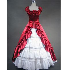 red victorian gown | RED VICTORIAN DRESS | Different Dresses