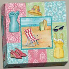 Canvas Beach Wear Ii 50'S Vacation Travel Art Suit Bathing Vintage Ocean Quality Cool Modern 12x12 PosterArtNow http://www.amazon.com/dp/B00JU7A42S/ref=cm_sw_r_pi_dp_WTgpvb17XZ5KB