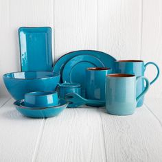 Gibson Select Ocean Paradise Dinnerware 16-pc. Set - Jade Crackle ...