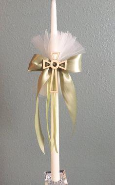 Green Lambatha /Greek Orthodox Candle-Baptism-Wedding-Easter