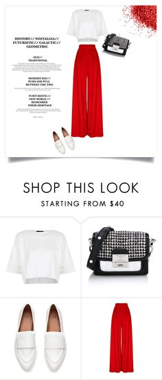 """""""Oh yeah!"""" by kendraborneman ❤ liked on Polyvore featuring Topshop and Karl Lagerfeld"""