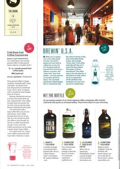 Pure Black cold-brew featured on Bon Appetit magazine | La Colombe ...