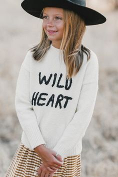 4b640aac995 Wild Heart Embroidered Cassidy Sweater  Mintedmethodshop.com Super soft  with Wild Heart on the