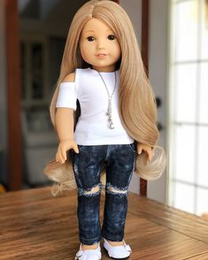 "New Hair Highlights Add On /""Auburn/"" Fix American Girl Doll"