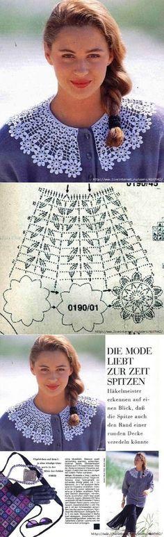 Crocheted collar with floral motifs Dodaj naslov