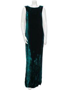 Oscar de la Renta Sleeveless Velvet Gown w/ Tags