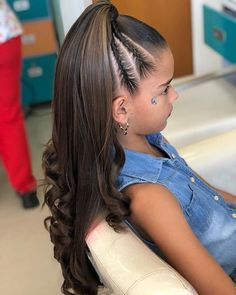 Lil Girl Hairstyles, Box Braids Hairstyles, Pretty Hairstyles, Girl Hair Dos, Toddler Hair, Curly Hair Styles, Hair Beauty, Girly, Nails