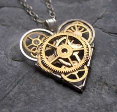 Watch Parts Heart Necklace Free Clockwork by amechanicalmind
