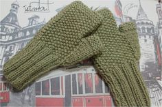 Hand knit winter short unique fingerless gloves by AsyaKnit