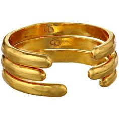 gorjana Taner Cuff Ring Set Ring, Gold ($25) ❤ liked on Polyvore featuring jewelry, rings, gold, gold jewellery, gold cuff jewelry, yellow gold rings, cuff ring and gold cuff ring