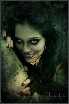 """They're calling this """"Cheshire Cat"""".  I just think it's freakin scary makeup on an evil model."""