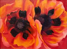 Georgia O'Keeffe Oriental Poppies 1927 The Collection of the Frederick R. Weisman Art Museum at the University of Minnesota, Minneapolis © 2016 Georgia O'Keeffe Museum/DACS, London Weisman Art Museum, Georgia O'keeffe, Art Floral, Art Gallery Of Ontario, O Keeffe, Feminist Art, Famous Artists, Botanical Art, Flower Art