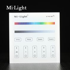 Milight T3 AC220V  4-Zone RGB/RGBW and brightness dimming Smart Panel Remote Controllerr for led strip light lamp or bulb