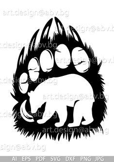 Wood Burn Designs, Designs To Draw, Animal Stencil, Bear Stencil, Bear Paw Print, Bear Paw Tattoos, Wood Burning Patterns, Bear Paws, Scroll Saw Patterns