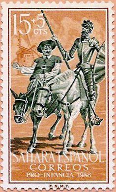 Sello Sáhara Occidental, Pro Infancia 1958 - Portal Fuenterrebollo