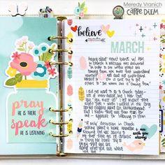 Faith/spiritual Carpe Diem planner from creative team member Meredy Vranich