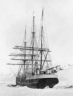SNAE (Scottish National Antarctic Expedition)  expedition ship Scotia, in the ice at Laurie Island, South Orkneys, 1903–04