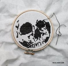 Skull cross stitch