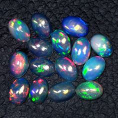 4.03 Cts Natural Rainbow Flash Fire Ethiopian Welo Opal Gems Lot Oval Cab 6x4 mm