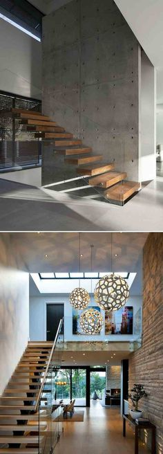 www aminkhoury com Beautiful modern home mid-century modern amin c khoury modern house amin khoury modern architecture Interior Stairs, Interior Architecture, Apartment Interior, Stairs Architecture, Architecture Images, Interior Livingroom, Studio Apartment, Apartment Ideas, Modern House Design
