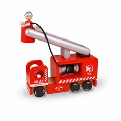 Camión de Bomberos, Vilac Toys, Car, Shopping, Trucks, Cars, Firefighters, Activity Toys, Automobile, Vehicles