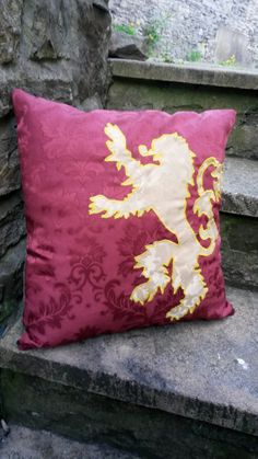 Game of Thrones Lannister Cushion Pillow HBO 18x18 by ByeBrytshi