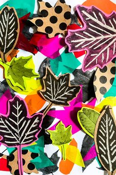 This fall leaf art craft is the perfect combination of fun and learning for kids This leaf collage craft is a fun way to spend a fall afternoon and helps kids learn the art concepts of color, composition, depth, shade and pattern. Fall Crafts For Kids, Autumn Crafts, Autumn Art, Nature Crafts, Diy Arts And Crafts, Art For Kids, Art Crafts, Kids Diy, Fall Art Projects
