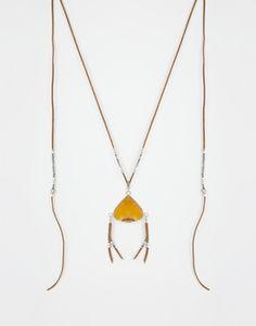 ASOS Boho Tassel Long Pendant Necklace