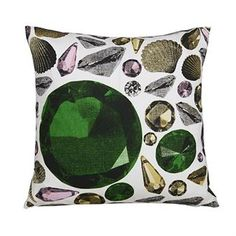 The lovely Disco cushion is designed by Lisa Bengtsson, it has a large and detailed pattern with sparkling diamonds, shells and gemstones in a colorful mix. Use the cushion as a luxurious detail in the sofa or on the bed and combine it with other fine pieces from Lisa Bengtsson.