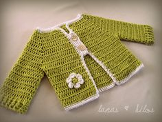 Cotton Baby cardigan  Spring Green
