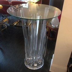 Haziza Rock Bar Lucite Crystal Table