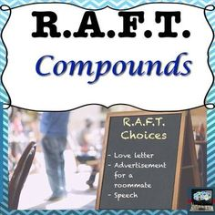 Compounds RAFT menu choice.  Bring writing and creativity into your science classroom and assess your students knowledge of compounds at the same time.  The love letter is perfect for a valentines activity.