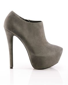 I am obsessed with this grey suede platform ankle boot from ShoeMint. This style is no longer available so I will have to find a similar style somewhere else.