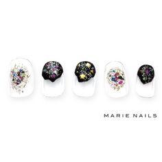 #マリーネイルズ #marienails #ネイルデザイン #かわいい #ネイル #kawaii #kyoto #ジェルネイル#trend #nail #toocute #pretty #nails #ファッション #naildesign #awsome #beautiful #nailart #tokyo #fashion #ootd #nailist #ネイリスト #ショートネイル #gelnails #instanails #marienails_hawaii #cool #black #キラキラ