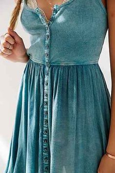 button-down cross back dress