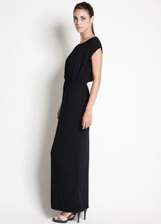 Dote noir nursing maternity maxi dress