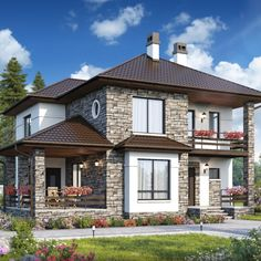 Two Story House Design, Bungalow House Design, Modern House Design, Home Design Floor Plans, Home Building Design, Beautiful House Plans, Build Your House, Model House Plan, Contemporary House Plans