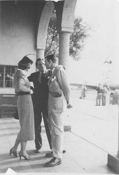 Myrna Loy, Spencer Tracy and Clark Gable
