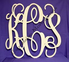24 inch Wooden Monogram Letters Custom wood by ExpressiveMonograms, $27.50